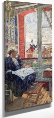Madame Vuillard The The Hotel Des Ducs De Normandie By Edouard Vuillard