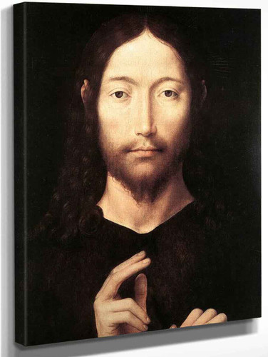 Christ Giving His Blessing 1 By Hans Memling