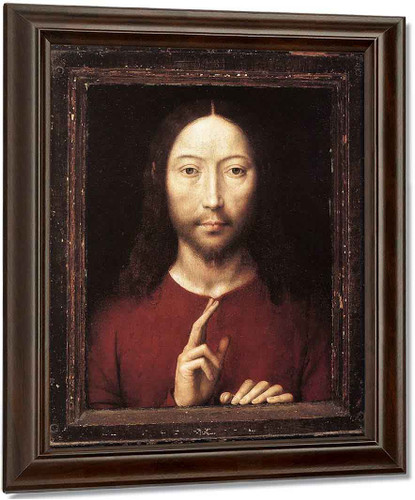 Christ Giving His Blessing By Hans Memling