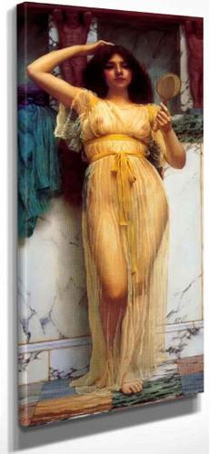 The Mirror By John William Godward  By John William Godward
