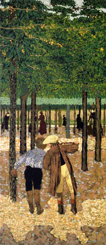 The Public Gardens The Two Schoolboys By Edouard Vuillard Art Reproduction