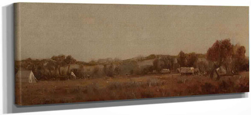 A Sketch At The Camp On The La Bonte, Wyoming Territory By Sanford Robinson Gifford