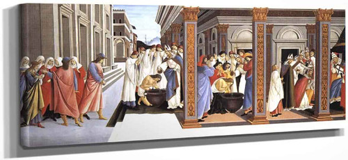Baptism Of St Zenobius And His Appointment As Bishop By Sandro Botticelli