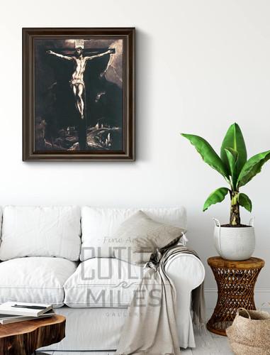 Christ On The Cross By El Greco By El Greco