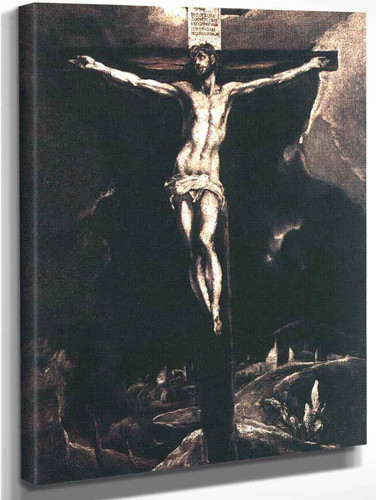 Christ On The Cross By El Greco By El Greco