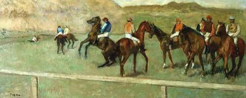 Before The Start By Edgar Degas