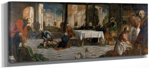 Christ Washing The Disciples' Feet By Jacopo Tintoretto