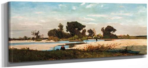 Landscape By Henri Joseph Harpignies, Aka Henri Harpignies