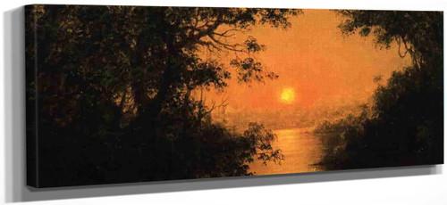 Sunset By Martin Johnson Heade