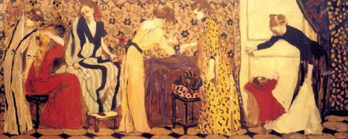 The Dressmaking Studio Ii By Edouard Vuillard