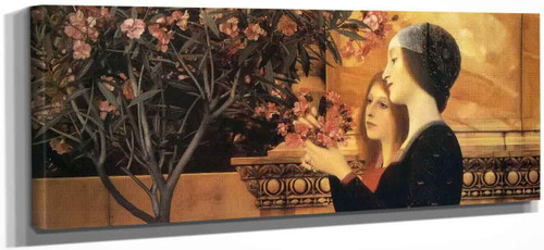 Two Girls With An Oleander By Gustav Klimt