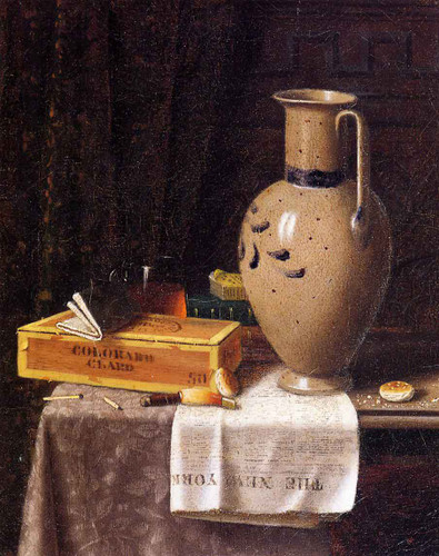 Cigar Box, Pitcher And 'New York World' By William Michael Harnett