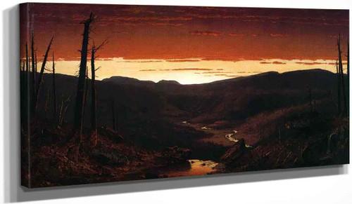 A Twilight In The Catskills By Sanford Robinson Gifford