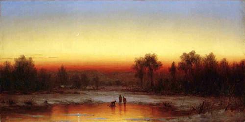 A Winter Twilight By Sanford Robinson Gifford