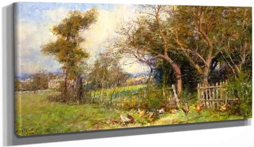 Autumn Morning, South Yarra By Frederick Mccubbin