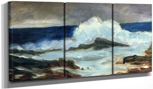 Breaking Surf By George Benjamin Luks