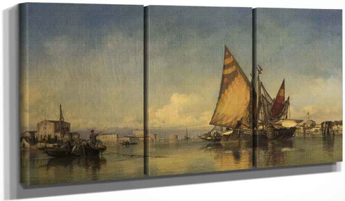 Canal Scene, Porto Del Lido, Venice By Edward William Cooke, R.A.