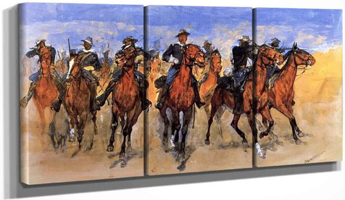 Colored Troopers To The Rescue By Frederic Remington