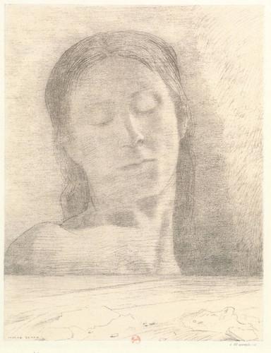 Closed Eyes By Odilon Redon