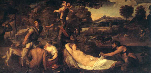 Jupiter And Anthiope  By Titian