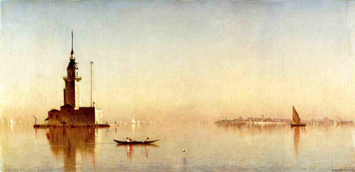 Leander's Tower On The Bosphorus By Sanford Robinson Gifford