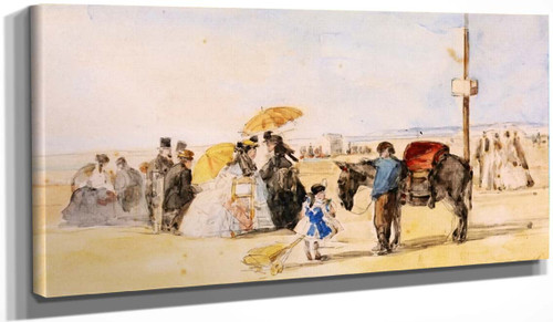 On The Beach 2 By Eugene Louis Boudin