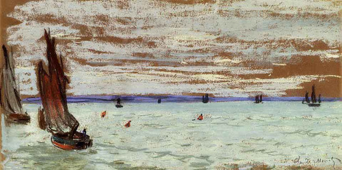 Open Sea By Claude Oscar Monet