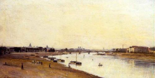 The Pont National As Seen From Quai D'ivry, Paris By Stanislas Lepine