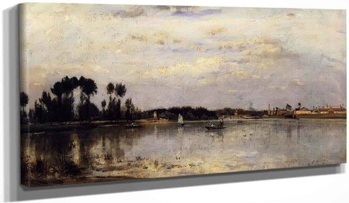 The Seine At Ile Saint Denis By Stanislas Lepine