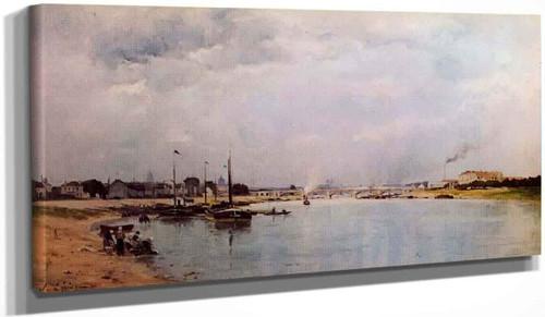 The Seine At Ivry By Stanislas Lepine