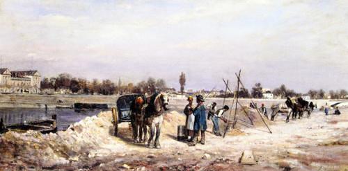 The Seine At Sevres By Stanislas Lepine
