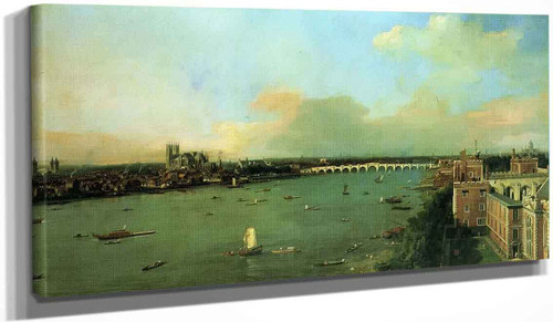 The Thames With St. Paul's Cathedral By Canaletto By Canaletto