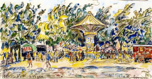 Village Festival  By Paul Signac