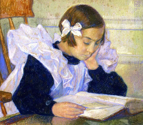 Elisabeth Reading Theo Van Rysselberghe