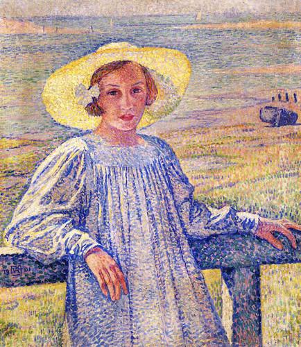 Elisaeth Van Rysselberghe In A Straw Hat Theo Van Rysselberghe