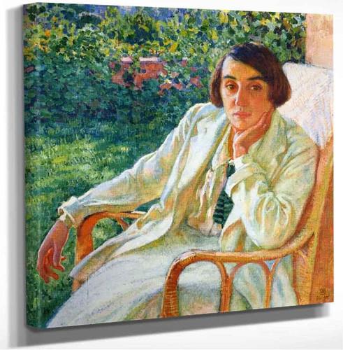 Elizabeth Van Rysselberghe In A Cane Chair Theo Van Rysselberghe