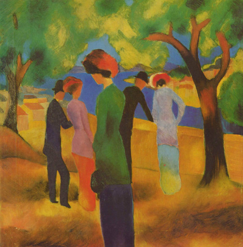 Lady In A Green Jacket August Macke
