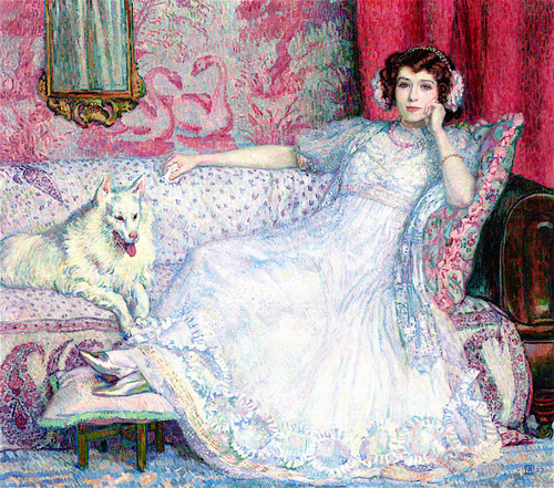 Portrait Of Helene Keller (Also Known As Woman In White) Theo Van Rysselberghe