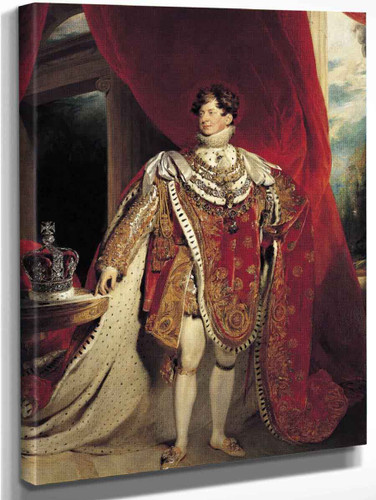 Coronation Portrait Of King George Iv By Sir Thomas Lawrence