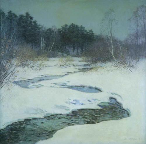 Thawing Brook Willard Leroy Metcalf