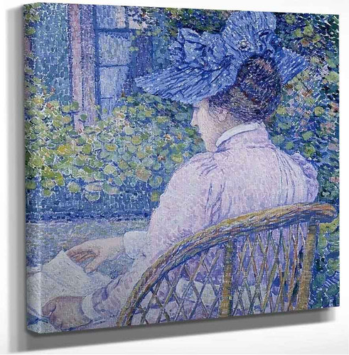 The Lady With The Blue Hat (Also Known As The Lady Reading) Theo Van Rysselberghe