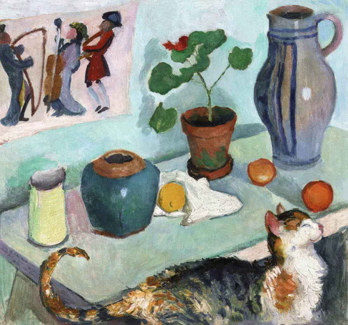 The Spirit Of The House Still Life With Cat August Macke
