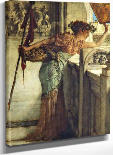 A Bacchante (There He Is!) By Sir Lawrence Alma Tadema