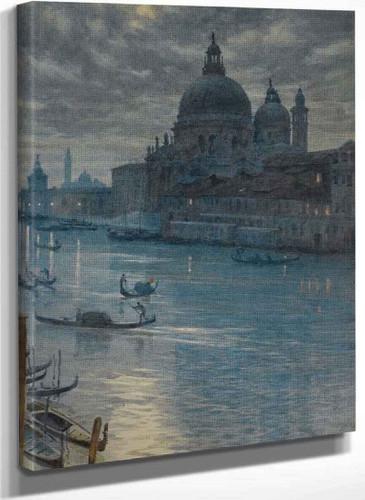 A Moonlight Scene Venice By Sir Edward John Poynter