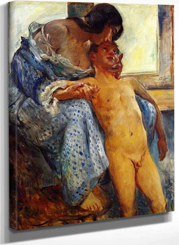 A Mothers Love (Portrait Der Ehefrau Charlotte Mit Sohn Thomas) By Lovis Corinth