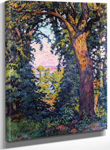 A Ravine At St. Bread (Jersey) By Theo Van Rysselberghe