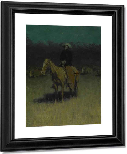 Cowpuncher's Lullaby By Frederic Remington Art Reproduction
