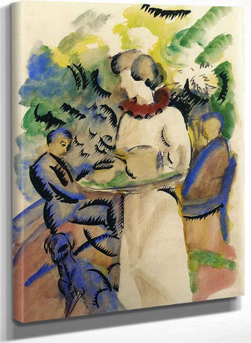 Afternoon In The Garden By August Macke