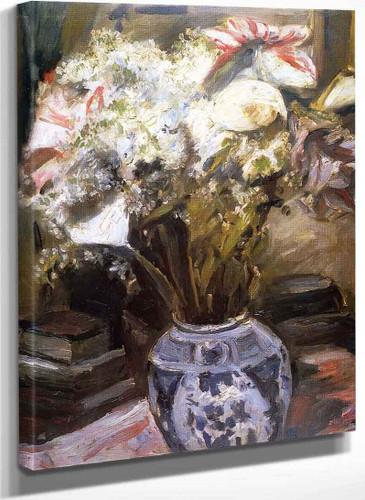 Amaryllis Calla Lilies And Lilac By Lovis Corinth