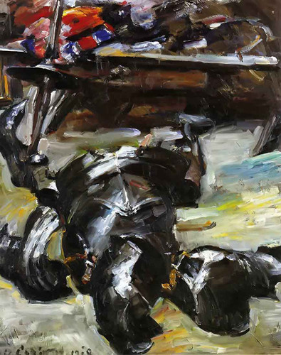 Armour In The Studio By Lovis Corinth